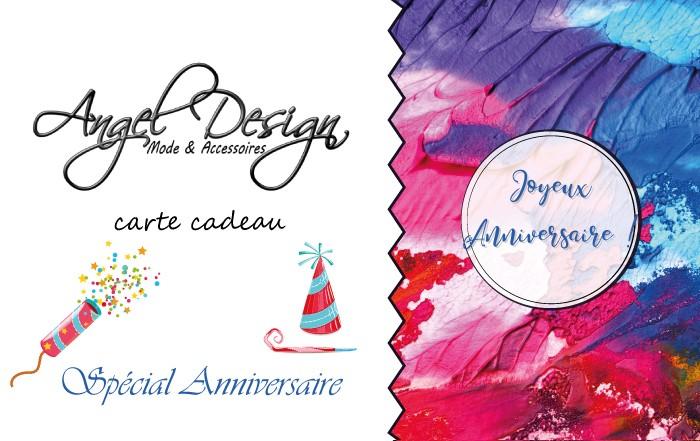 Carte Cadeau Angel Design spécial anniversaire