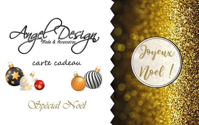 Carte Cadeau Angel Design spécial Noël